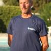 T-shirt istruttore, Salvamento Agency, cotone 100%, blu, retro (3)