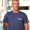 T-shirt istruttore, Salvamento Agency, cotone 100%, blu, retro (5)
