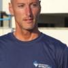 T-shirt istruttore, Salvamento Agency, cotone 100%, blu, retro (6)
